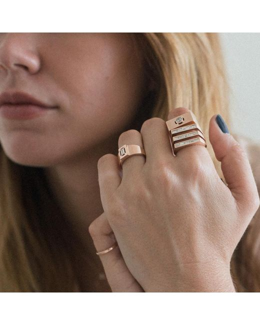 Carbon & Hyde | Metallic Empire Pinky Ring | Lyst