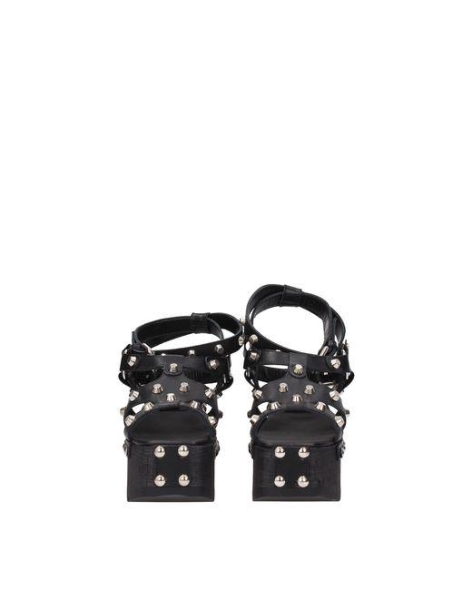 e8dff8c67e53 Lyst - Alexander McQueen Sandals Paloma Gladiator Women Black in Black
