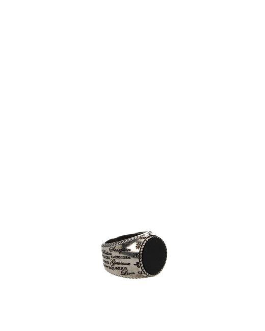 Givenchy Metallic Rings Zodiac Ring Men Silver for men