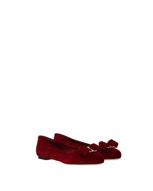 b2ca8cb63 ... Ferragamo - Ballet Flats Varina Women Red - Lyst ...