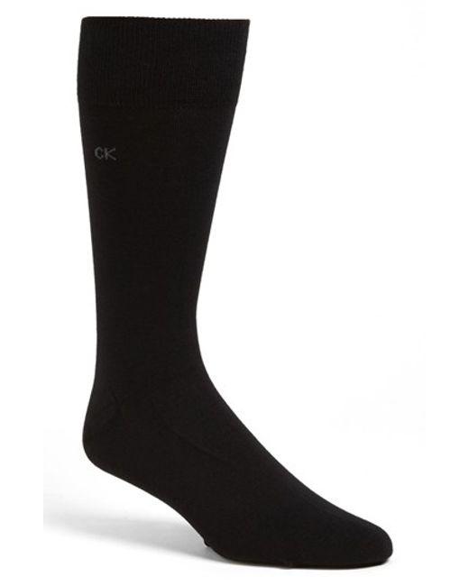 Calvin Klein | Black Cotton Blend Socks for Men | Lyst