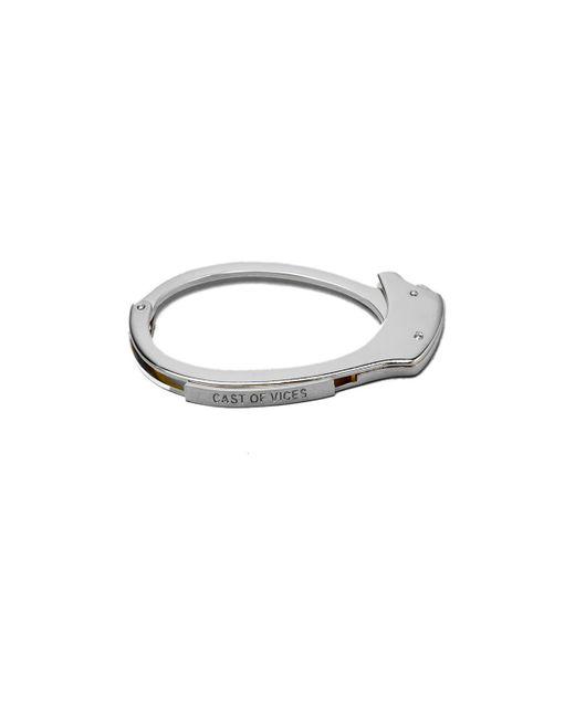 Cast Of Vices | Metallic Handcuff Rhodium Bracelet for Men | Lyst
