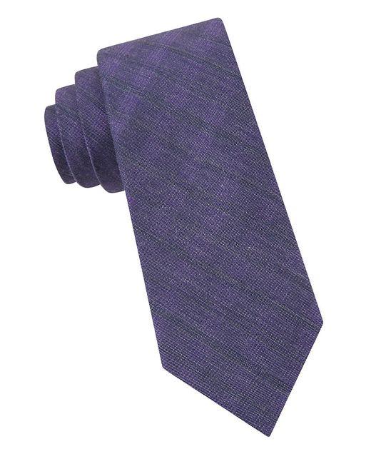 Calvin Klein   Purple Textured Tie for Men   Lyst