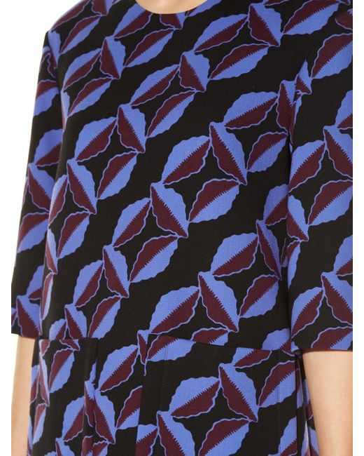 Marni | Multicolor Floral-print Wool-cady Dress | Lyst