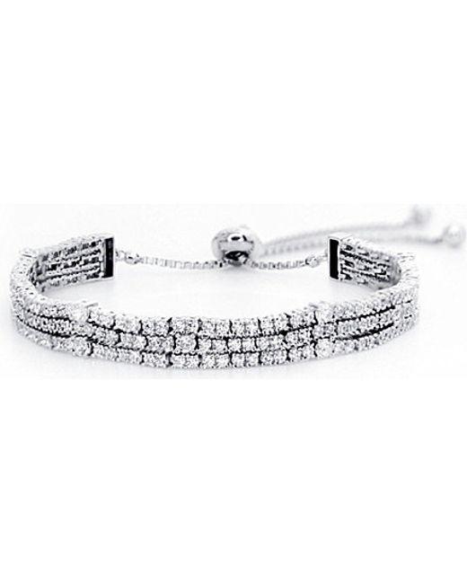 Carat* | White Alexis Sterling Silver Millennium Bracelet | Lyst