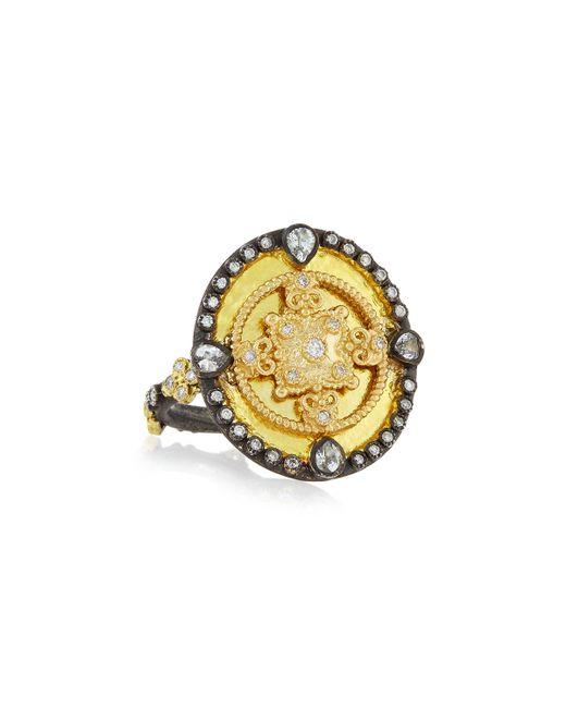 Armenta | Metallic Oid World Heraldry Oval Shield Ring | Lyst