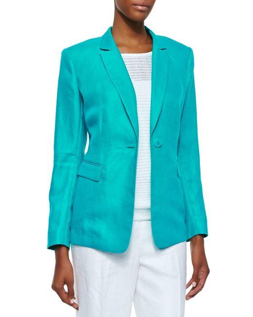 Lafayette 148 New York | Blue Mackenzie One-button Jacket | Lyst