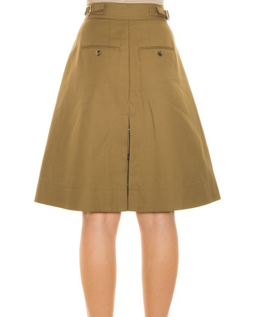 wang a line skirt in brown lyst