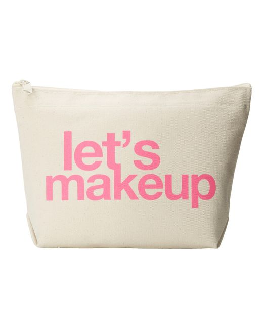 Dogeared | Pink Let'S Makeup Lil Zip Bag | Lyst