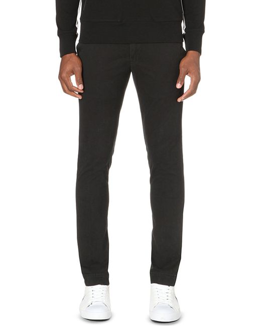 Polo Ralph Lauren | Black Hudson Slim-fit Stretch-cotton Chinos for Men | Lyst