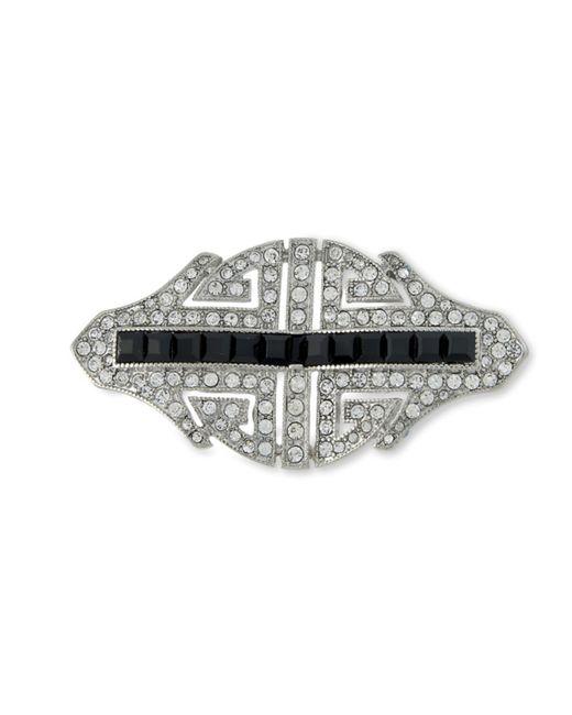 Kenneth Jay Lane | Metallic Art Deco Brooch | Lyst