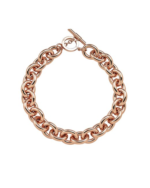 Amanda Wakeley   Metallic Chunky Rose Gold Necklace   Lyst
