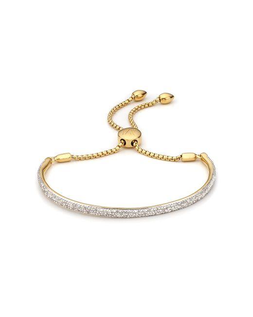 Monica Vinader   Metallic Fiji Diamond Bar Bracelet   Lyst