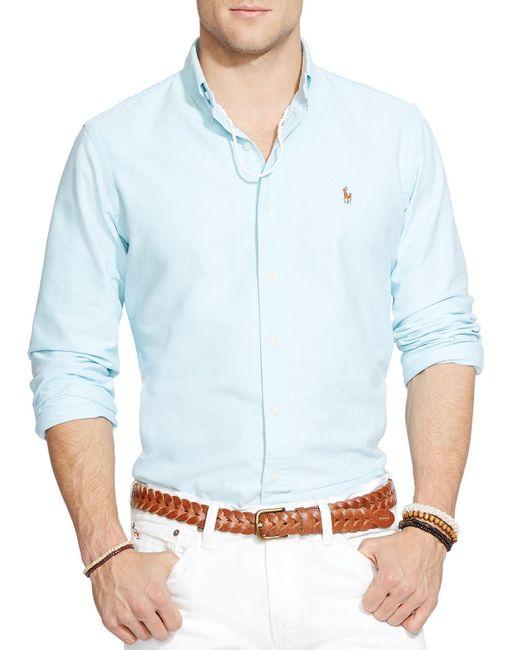 Polo Ralph Lauren | Blue Oxford Button Down Shirt - Classic Fit for Men | Lyst