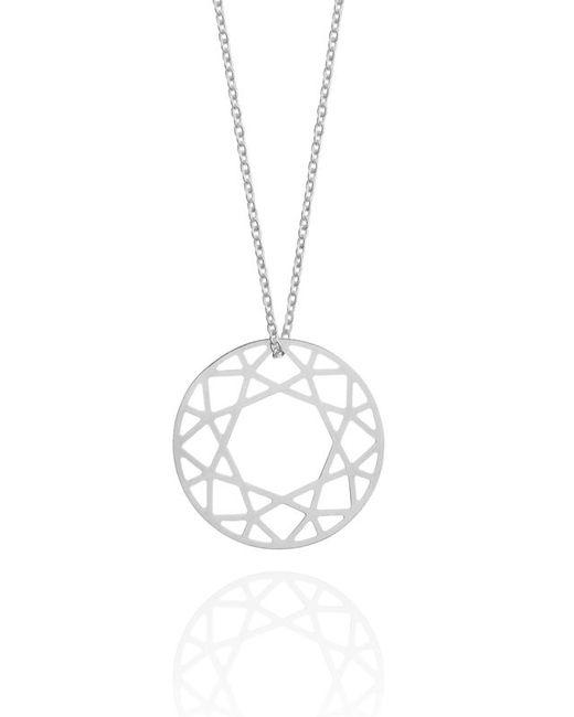 Myia Bonner   Metallic Medium Silver Brilliant Diamond Necklace   Lyst