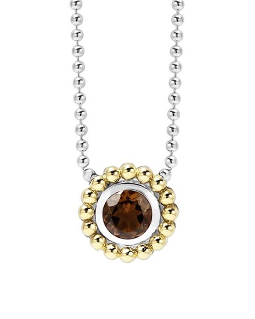 Lagos | Red Stone Pendant Necklace | Lyst