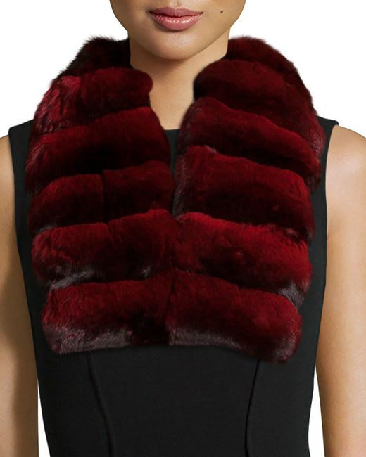 Gorski | Red Chinchilla Fur Collar | Lyst