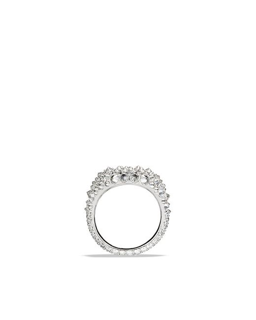 David Yurman   Multicolor Pinky Ring With Diamonds In 18k White Gold   Lyst