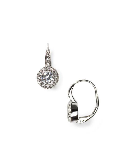 Nadri | Metallic Crystal And Cz Leverback Earrings | Lyst