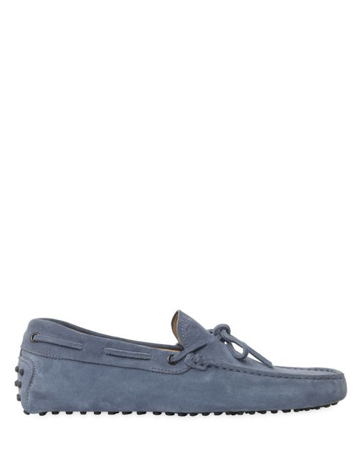 Tod's | Blue Gommino 122 Suede Driving Shoes for Men | Lyst