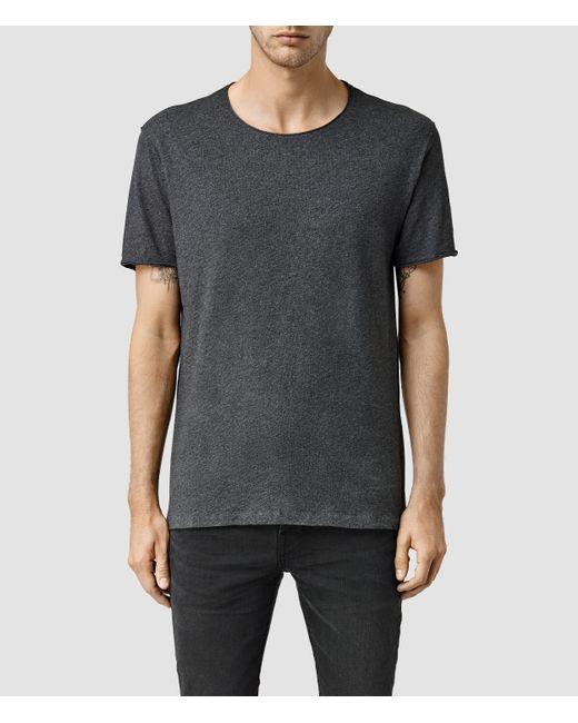 AllSaints   Gray Warn Crew T-shirt for Men   Lyst