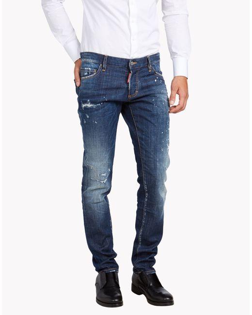 DSquared²   Blue Slim Jeans for Men   Lyst