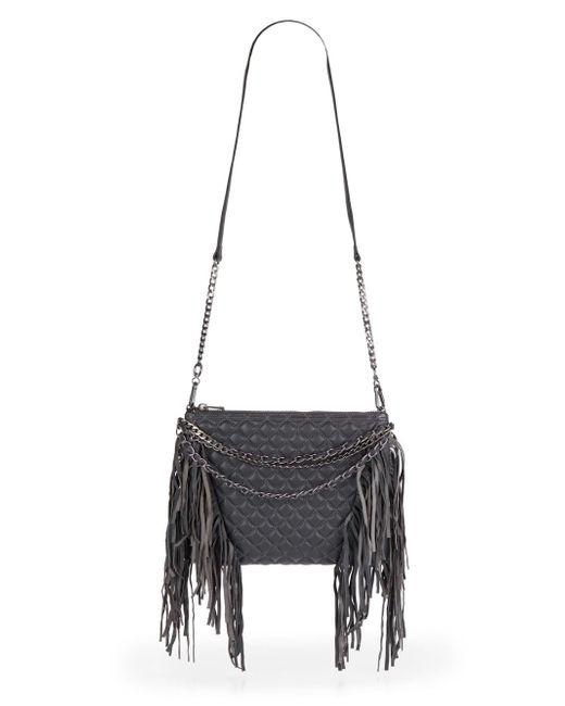 Ash | Gray Bijou Leather Convertible Clutch | Lyst