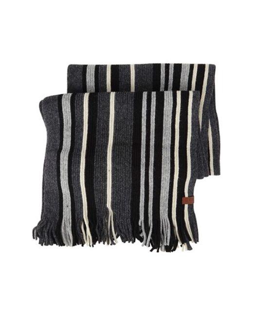Free Knitting Pattern Vertical Stripe Scarf : Ben sherman Vertical Stripe Knit Scarf in Multicolor for Men (JET BLACK) Lyst