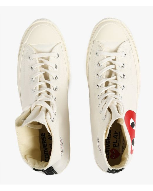 Play Comme des Garçons | Natural Play Chuck Taylor Canvas High-Top Sneakers | Lyst