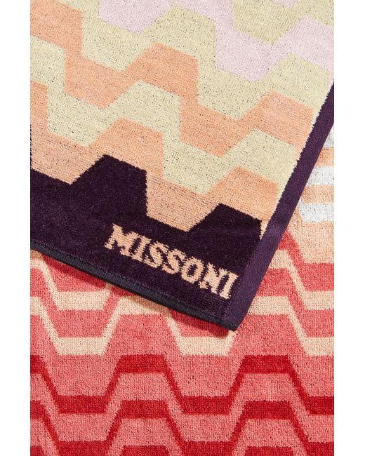 missoni cotton beach towel multicolor in multicolor lyst. Black Bedroom Furniture Sets. Home Design Ideas