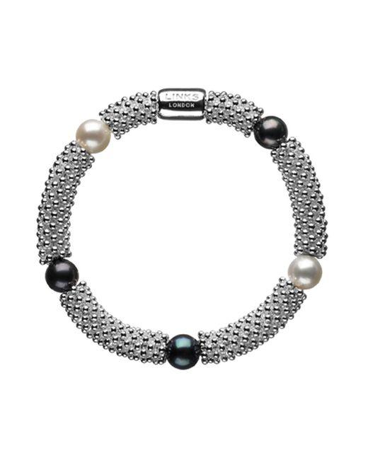 Links of London   Black Effervescence Star Sterling Silver Pearl Bracelet   Lyst