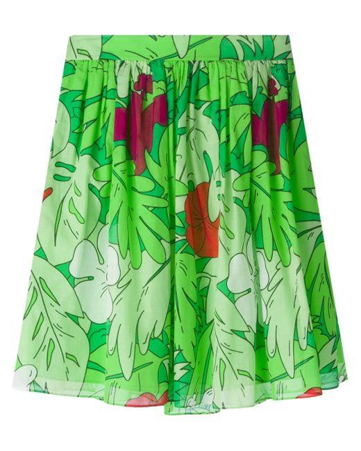 Boutique Moschino | Green Botanical Print Skirt | Lyst