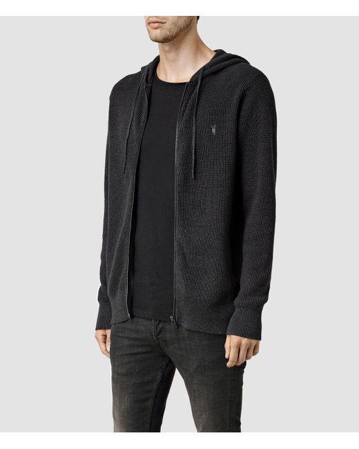 AllSaints   Black Trias Hoody for Men   Lyst