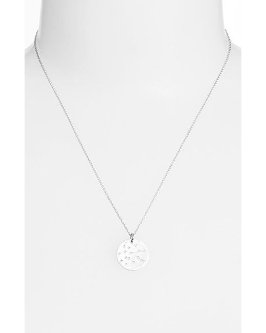 Nashelle | Metallic Ija 'small Zodiac' Sterling Silver Necklace | Lyst