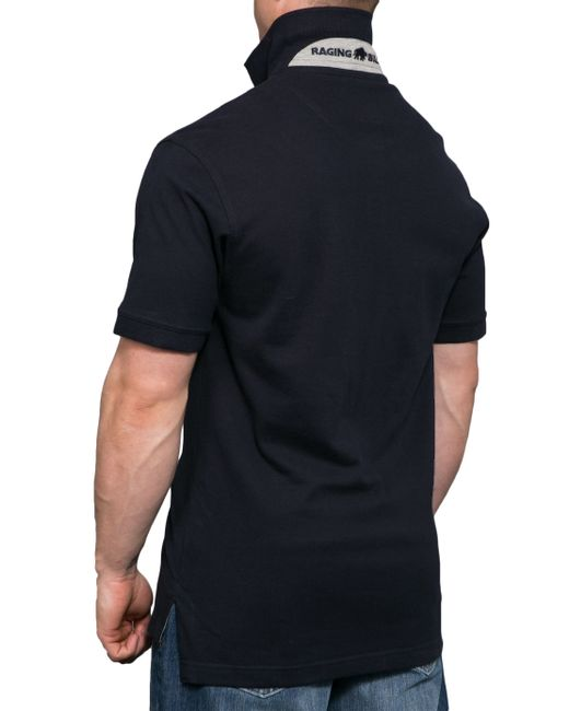 Raging bull big and tall new signature polo shirt in black for Big and tall polo shirts on sale