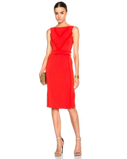 Altuzarra | Red Caulfield Stretch-Crepe Cocktail Dress  | Lyst