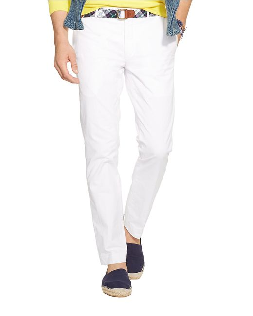 Polo Ralph Lauren | White Slim-fit Stretch-chino Pants for Men | Lyst