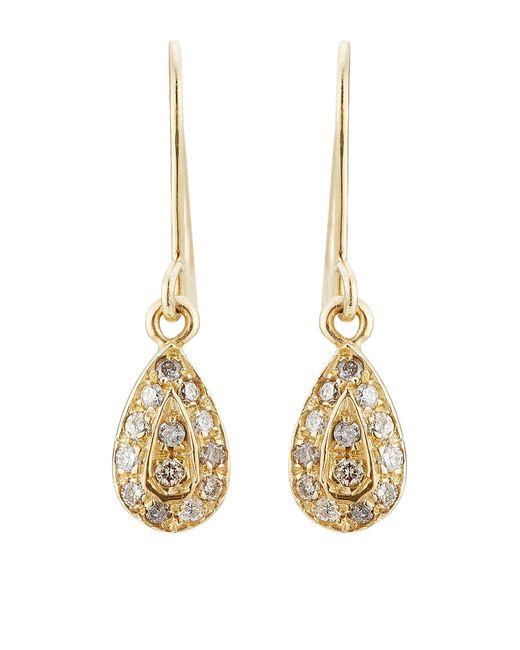 Carolina Bucci | Metallic 18k Yellow Gold Earrings With Diamonds | Lyst