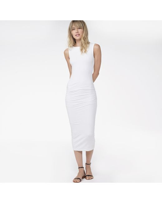 James Perse   White Open Back Skinny Dress   Lyst