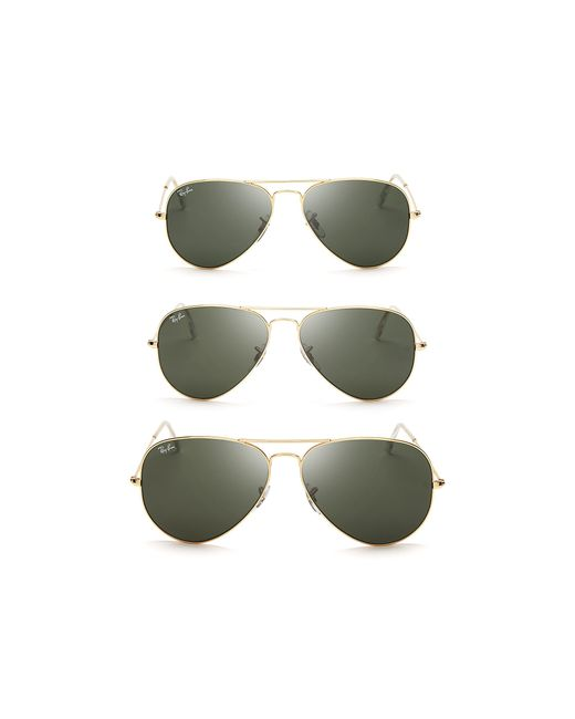 Ray-Ban | Gold Aviator Sunglasses | Lyst