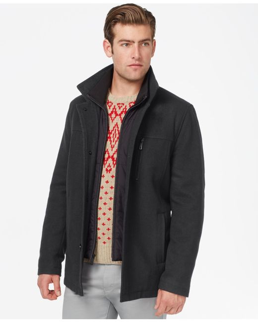 Kenneth Cole | Gray Wool-blend Barn Coat for Men | Lyst