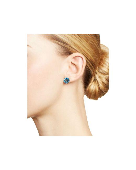 Ippolita | 18k Gold Rock Candy Medium Round Stud Earrings In London Blue Topaz | Lyst