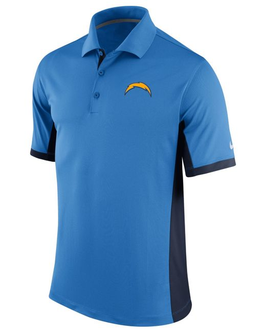 Nike Men S San Diego Chargers Team Issue Polo In Blue For