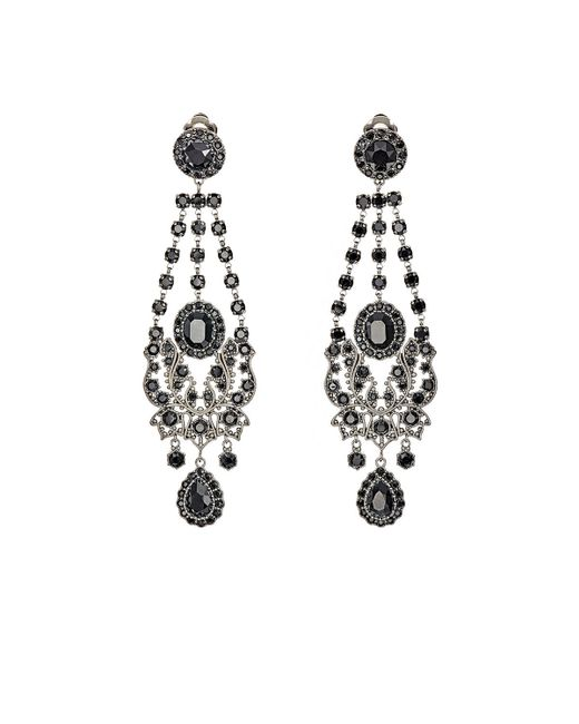 Red Givenchy Chandelier Earrings: Givenchy Gothic Clip-on Chandelier Earrings In Silver