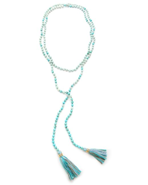 Chan Luu | Blue Beaded Tassel Necklace Turquoise Mix | Lyst
