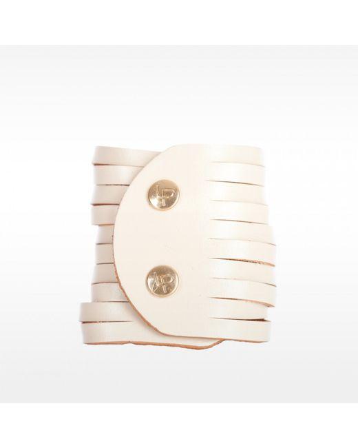 Linea Pelle | White Sliced Dome Stud Bracelet | Lyst