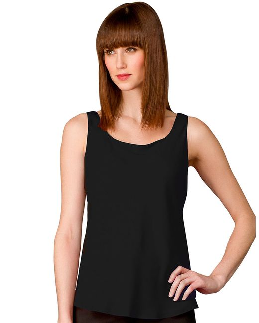 Lafayette 148 New York | Black Matte Silk Bias Cut Tank | Lyst