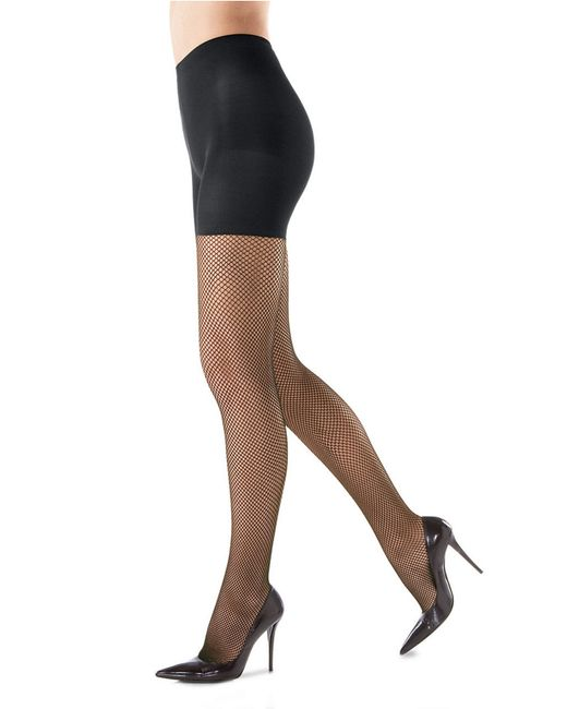Spanx | Black Fishnet Tights | Lyst