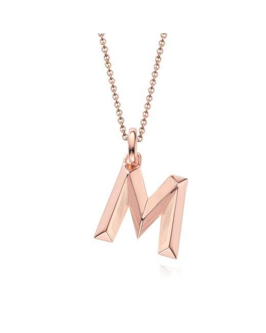 Monica Vinader | Pink Alphabet Pendant M | Lyst