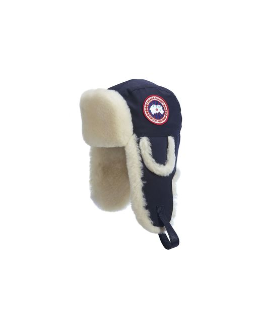 213cb270622 Canada goose Shearling Sheepskin Aviator Hat in Blue (Spirit)